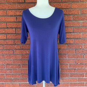 Soft Surroundings Blue Timely Top Size Medium